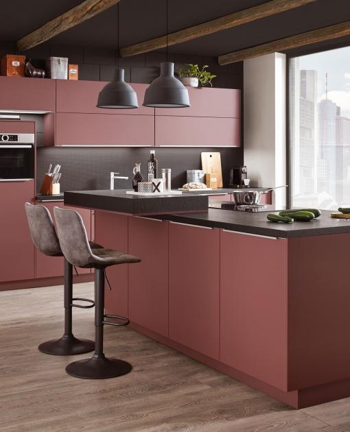 Kuchyně S –Line 963  Ultra matné čelní strany navíc chrání inovativní potisk proti otiskům prstů.