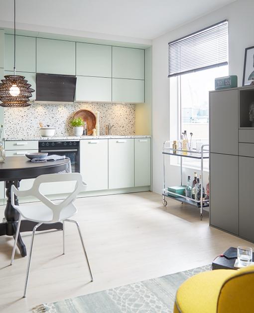Schuller C collecton BIE 1 Stylové a praktické řešení kuchyně s úložnými prostory.