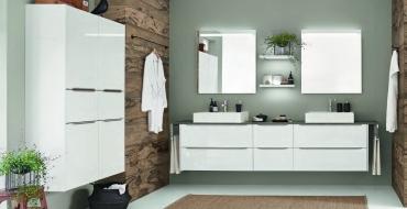 Koupelnový nábytek Koupelnový nábytek, který uctívá čisté linie.