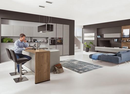 Kuchyně s obývacím prostorem S-Line 803 v šedém, betonovém provedení za 199 000 Kč